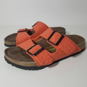Papillio By Birkenstock Orange Arizona Sandals 7.5